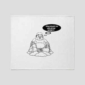 Rich Buddha Throw Blanket