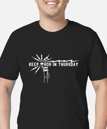 Keep Thor In Thursday Men's Fitted T-Shirt (dark)