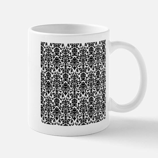 Black Damask Mug