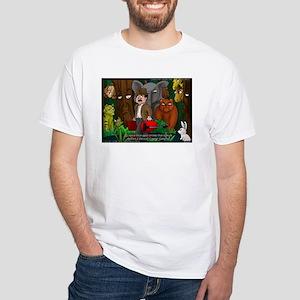 Nature Abhors This Cartoon White T-Shirt