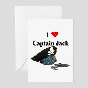 I Heart Captain Jack Greeting Cards (Pk of 10)