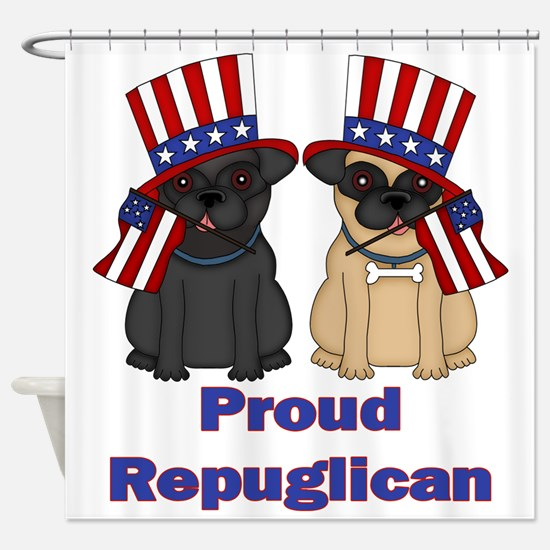 Proud Repuglican Shower Curtain