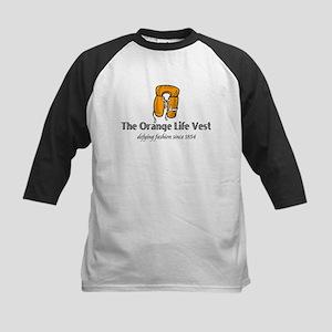 Orange Life Vest humor Kids Baseball Jersey