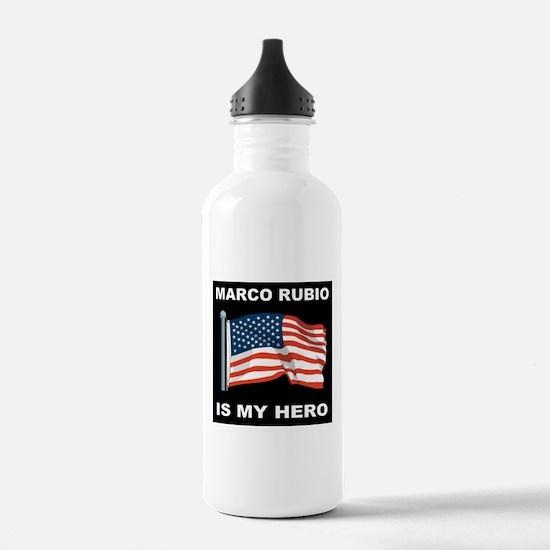 ALLEN WEST FLAGD.png Water Bottle