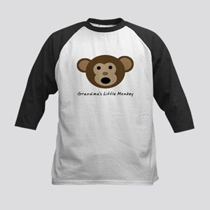 Grandma's Little Monkey Kids Baseball Jersey