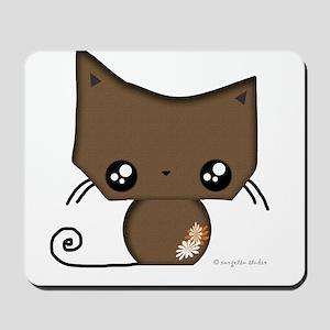 Omanju Neko Brown Mousepad