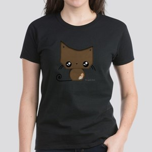 Omanju Neko Brown Women's Dark T-Shirt
