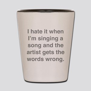 Singing a Song Shot Glass