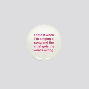 Singing a Song Mini Button