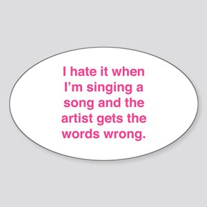 Singing a Song Sticker (Oval)