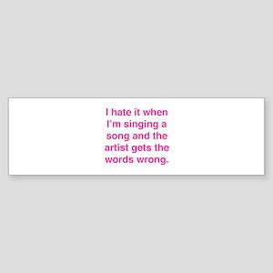 Singing a Song Sticker (Bumper)