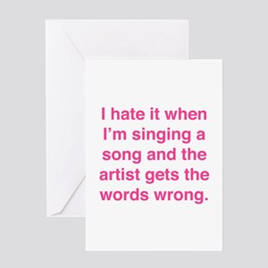 Song lyrics greeting cards cafepress singing a song greeting card m4hsunfo