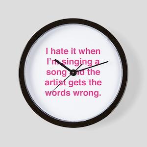 Singing a Song Wall Clock