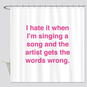 Singing a Song Shower Curtain