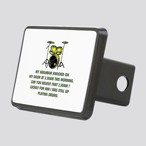 Still Up Playing Drums Rectangular Hitch Cover