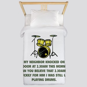 Still Up Playing Drums Twin Duvet