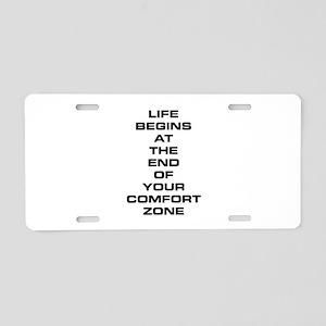 Comfort Zone Aluminum License Plate