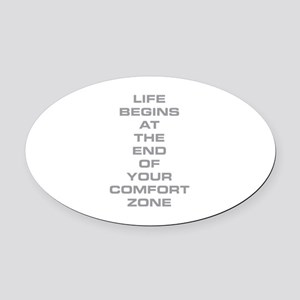 Comfort Zone Oval Car Magnet