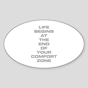 Comfort Zone Sticker (Oval)
