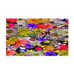 Flower Bed Home Decor 35x21 Wall Decal