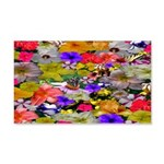 Flower Bed Home Decor 20x12 Wall Decal
