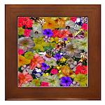 Flower Bed Home Decor Framed Tile