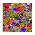 Flower Bed Home Decor Tile Coaster