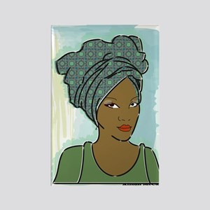 Veiled Lady 3 Rectangle Magnet