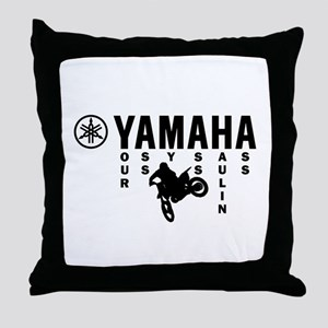 Yamaha Black Throw Pillow