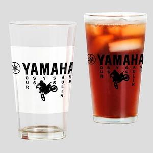 Yamaha Black Drinking Glass