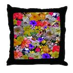 Flower Bed Home Decor Throw Pillow