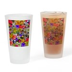 Flower Bed Home Decor Drinking Glass