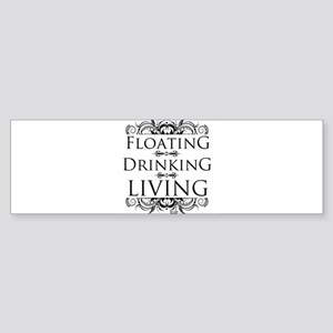 Floating Drinking Living Sticker (Bumper)