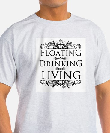 Floating Drinking Living T-Shirt