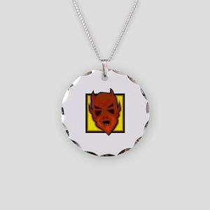 Devil Necklace Circle Charm