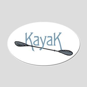 Kayak 20x12 Oval Wall Decal