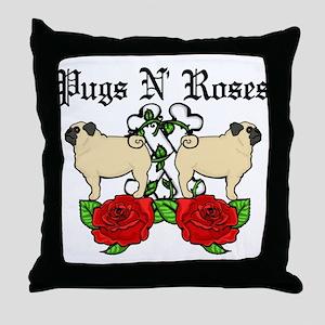 Pugs N Roses Pillow