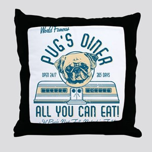 Pug Diner Pillow