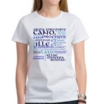 Vergil Blue Women's T-Shirt