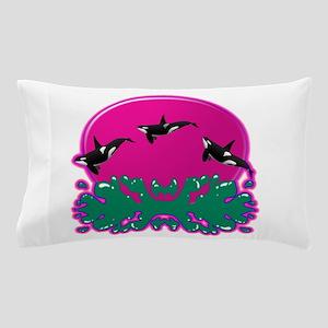 Orcas at Play 2 Pillow Case