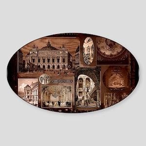 Paris Opera House collage Sticker