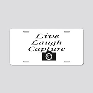 Capture Aluminum License Plate