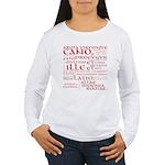 Vergil Red Women's Long Sleeve T-Shirt