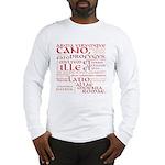 Vergil Red Long Sleeve T-Shirt