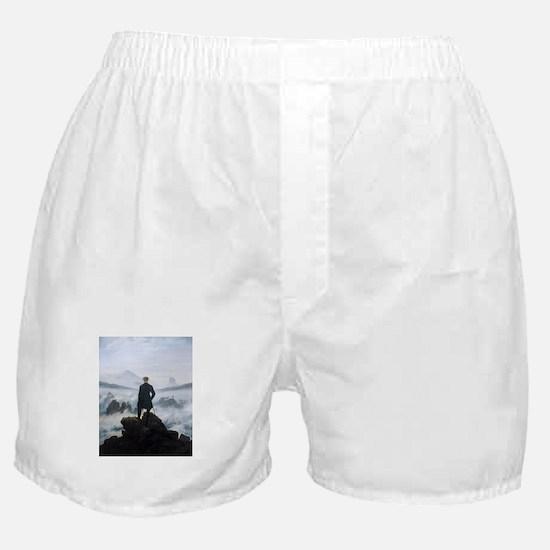 Caspar David Friedrich Wanderer Boxer Shorts