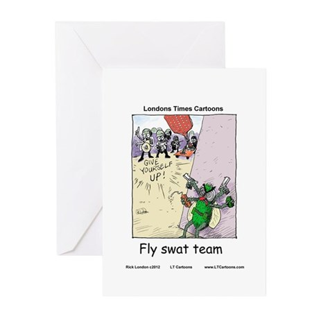 Fly S.W.A.T Team Greeting Cards (Pk of 20)