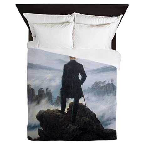 Caspar David Friedrich Wanderer Queen Duvet