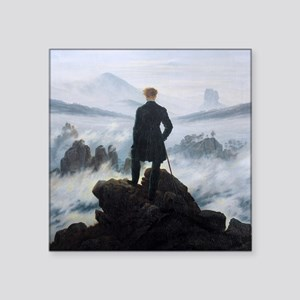 Caspar David Friedrich Wanderer Square Sticker 3""