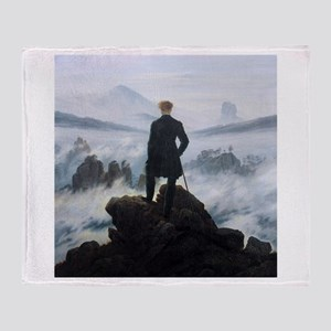 Caspar David Friedrich Wanderer Throw Blanket