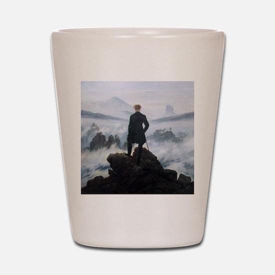 Caspar David Friedrich Wanderer Shot Glass